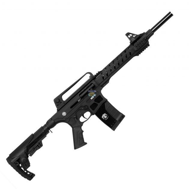 "Espingarda Semi Automática HUGLU XR-7 Cal. .12GA 18.5"" - Black"
