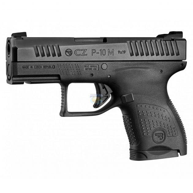 "Pistola Ceska Zbrojovka CZ P-10M Cal.9mm 3"" Oxidada - 7 Tiros"