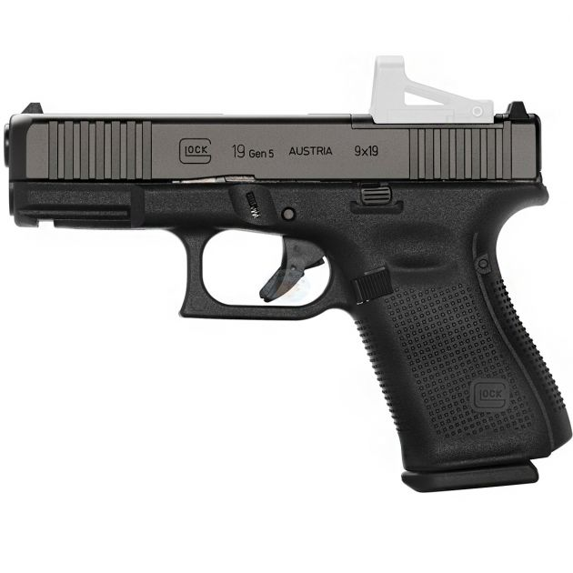 Pistola Glock G19 MOS Gen.5 Cal. 9mm 15 Tiros