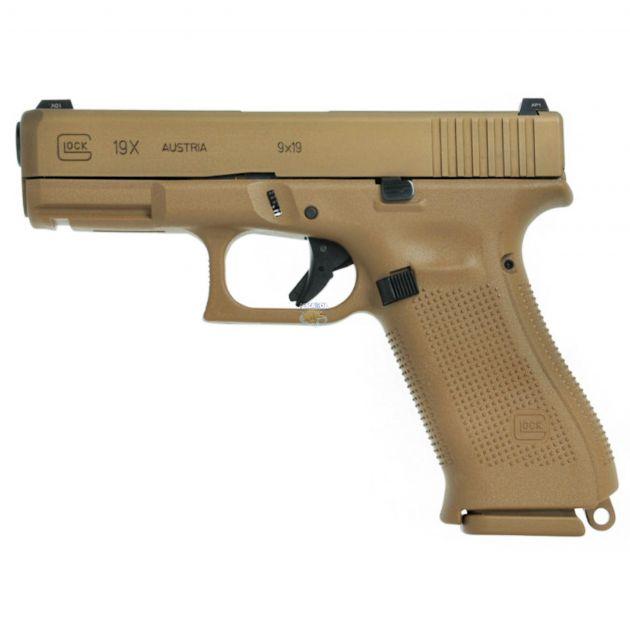 "Pistola Glock G19X Coyote Cal.9mm 17 Tiros - Cano 4.02"""