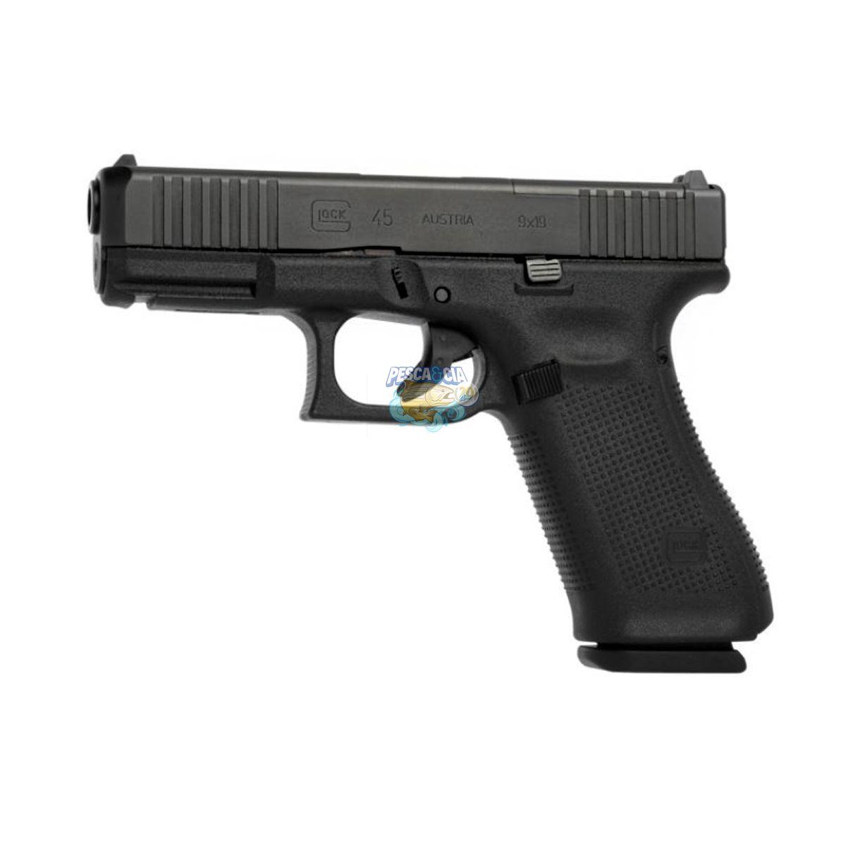 Pistola Glock G45 Gen5 MOS Cal. 9mm 17 Tiros