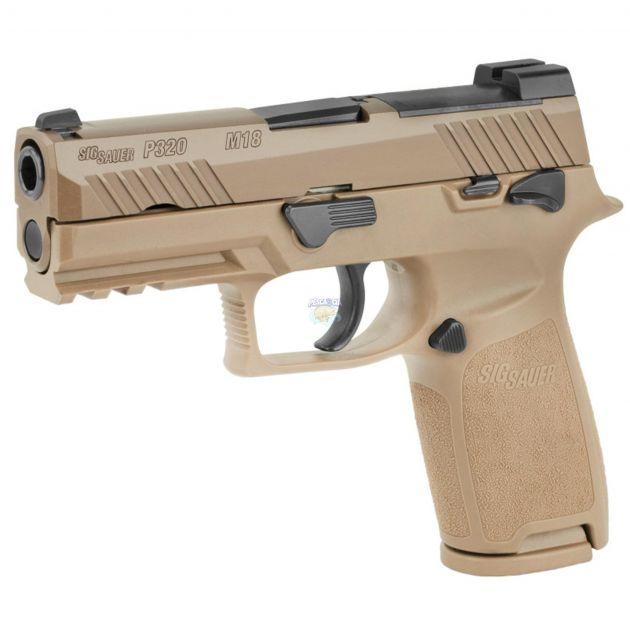 "Pistola Sig Sauer P320-M18 Coyote Cal.9mm 17 Tiros - Cano 3.90"""