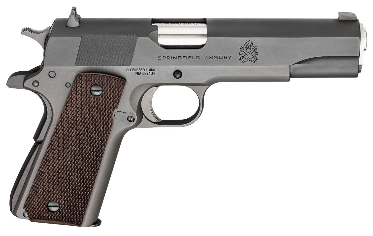 "Pistola Springfield 1911-A1 DYL Mil-Spec Cal. .45AUTO Oxidada 7 Tiros - Cano 5"" *** Pré-venda"