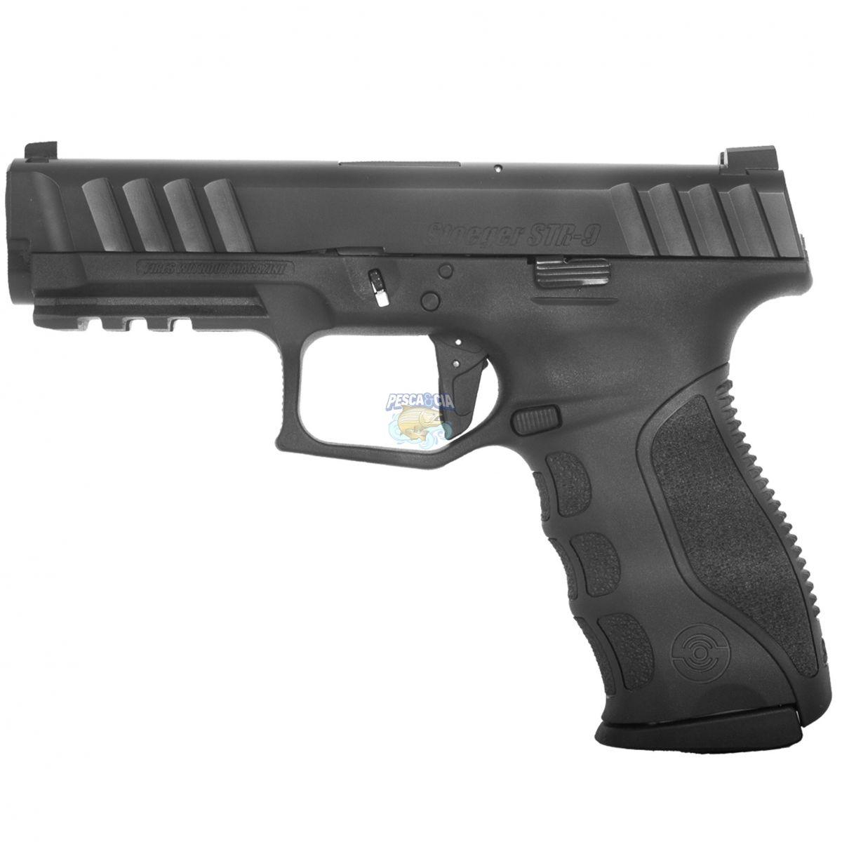"Pistola Stoeger By.Beretta STR-9 Cal. 9mm Oxidada 15 Tiros - Cano 4,17"""