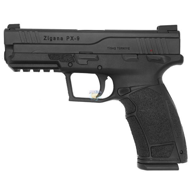 """Pistola Tisas ZIGANA PX-9 V2 Cal.9mm Oxidada 18 Tiros - Cano 4,1"""""""