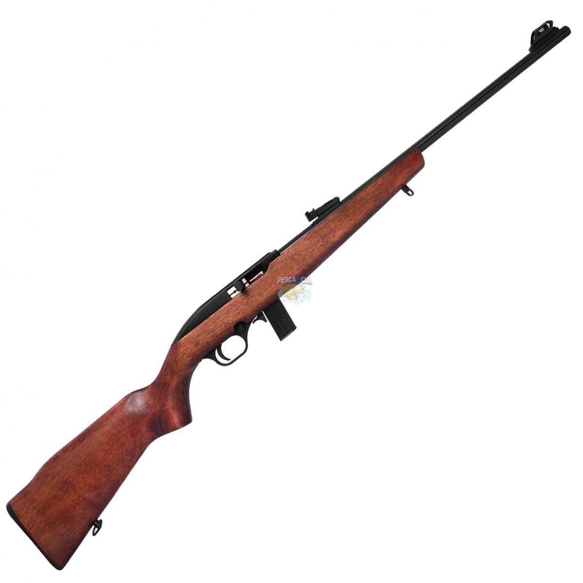 """Rifle CBC 7022 Cal. 22LR Semi-Automatico Luxo 10 Tiros - Cano 21"""" + **LUNETA BRINDE**"""